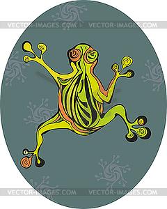 Frosch-Bewegung - Vector-Clipart / Vektor-Bild