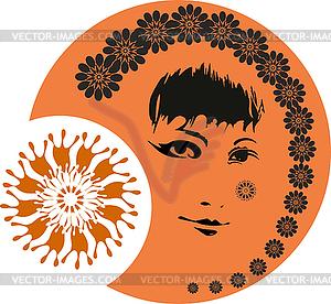 Mädchen-Gesicht so - Vector-Clipart EPS