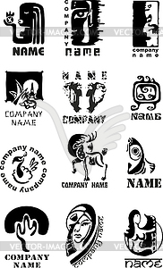 Set von Logos - vektorisiertes Design