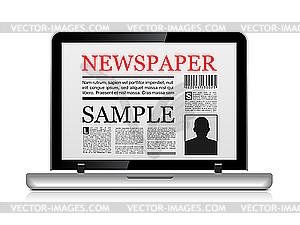 Online-Zeitung - Vektor-Clipart EPS