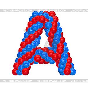 Buchstaben aus Luftballons - vektorisierte Abbildung