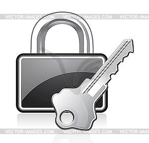 Schloss und Schlüssel - vektorisierte Abbildung
