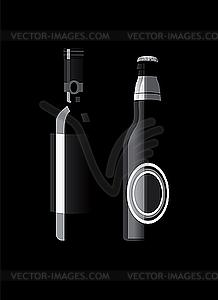 Alkohol-Flaschen - Vector-Bild