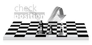 König Schach - Stock-Clipart