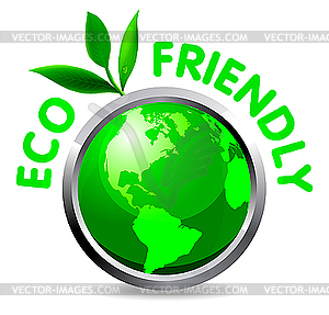Eco glossy icon - Vector-Clipart