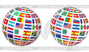Flagge Globuskugel - Vector-Clipart / Vektor-Bild