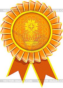 Illustration von Rosette Auszeichnung - Vector-Clipart / Vektor-Bild