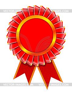Illustration von Rosette Auszeichnung - Stock-Clipart