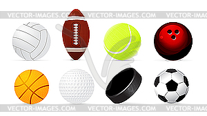 Sport-Bälle - Klipart