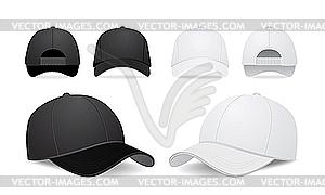 Baseballkappen - vektorisiertes Clip-Art