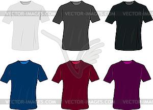 Design-Vorlagen von T-Shirts - Vektor-Clipart / Vektorgrafik
