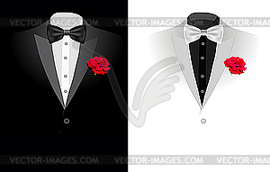 Schwarzer Business-Anzug - Vektor-Bild