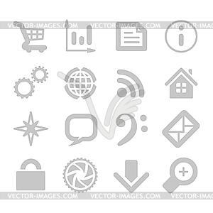 Anwendungssymbole - Vektorgrafik-Design