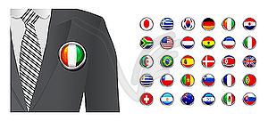 Diplomat mit Abzeichen Flagge Hintergrund - vektorisierte Abbildung