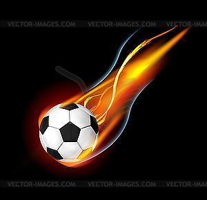Ball für Fußball im Feuer - Stock Vektor-Bild