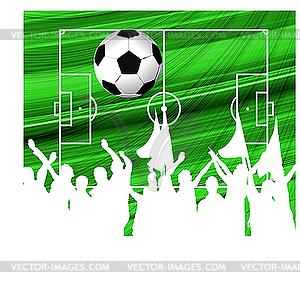 Fußball-Hintergrund - Vector-Design
