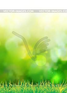 Natürlicher grüner Hintergrund - vektorisierte Abbildung