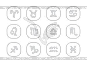 Astrologie Zeichen Set - Stock Vektor-Clipart