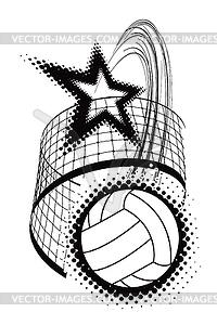 Volleyball-Sport-Design-Element - Vektor-Clipart / Vektorgrafik