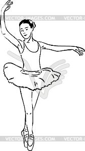 Балерина на пуантах - векторное изображение