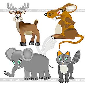 Tiere - Vektor-Skizze