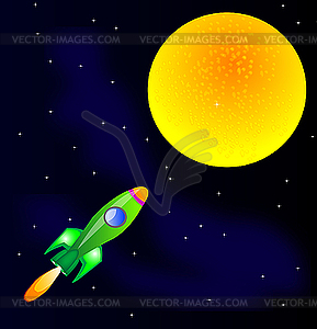 Rakete im Weltraum - Vektor-Clipart / Vektorgrafik