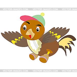 Воробей в кепке и обуви - векторный ...: vector-images.com/clipart/clp124356/?lang=rus