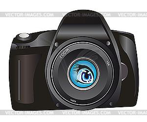 Digitalkamera - Vektor-Abbildung