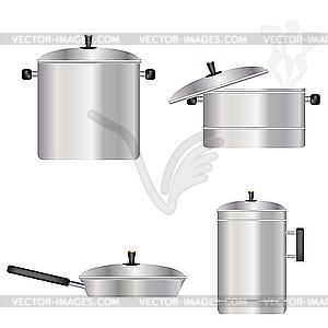 Geschirr für die Küche - Vector Clip Art