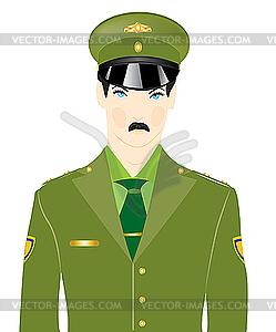 Mann in militärischer Uniform - Vector-Clipart / Vektorgrafik