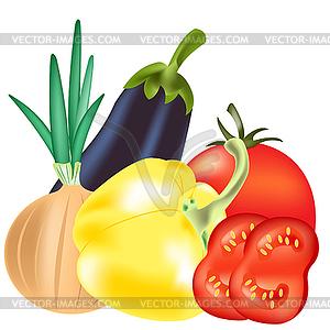 Tomaten und Gurken - Royalty-Free Vektor-Clipart