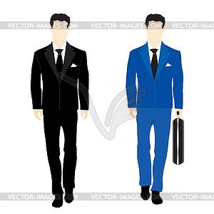 Silhouetten von Menschen im Business-Anzug - Vektor-Klipart
