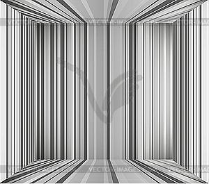 Leerer grauer Innenraum-Hintergrund - Clipart-Design