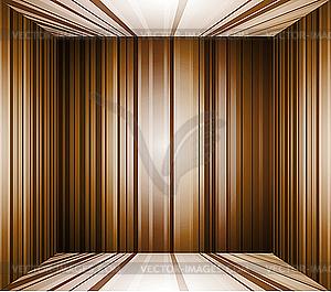 Leerer brauner Innenraum-Hintergrund - Royalty-Free Clipart