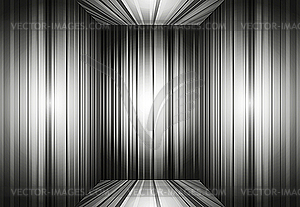 Leerer grauer Innenraum-Hintergrund - Stock Vektor-Bild