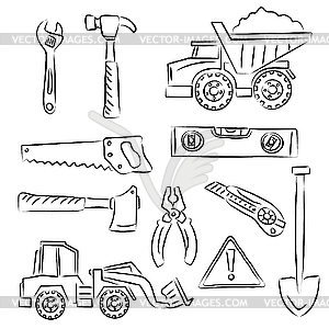 under construction clipart black and white Construction Clip Art Black    Under Construction Clipart Black And White
