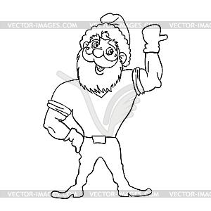 Weihnachtsmann Bodybuilder - Vektor-Bild