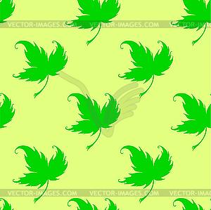 Pattern mit Blättern einer Pflanze - vektorisiertes Clip-Art