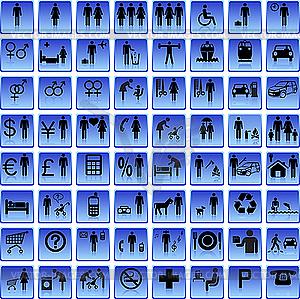 Web-Icons - Menschen - Vektorgrafik