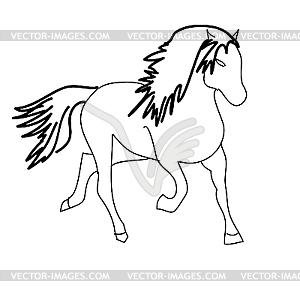 Schwarzes Pferd - Stock Vektor-Bild