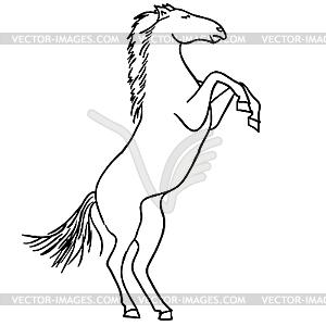 Schwarzes Pferd - Vektorgrafik-Design