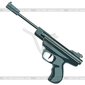 Waffe, Pistole. - Vektor-Skizze
