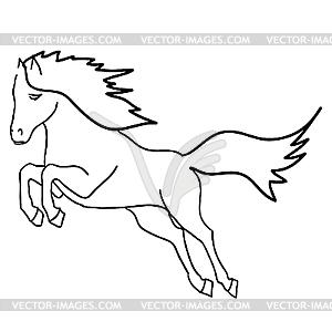 Schwarzes Pferd - Vektor-Illustration