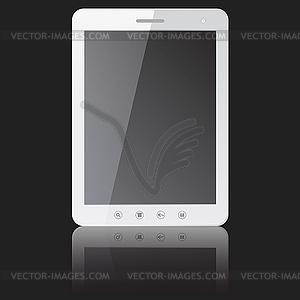 Weiße Tablette PC mit leeren Bildschirm - Vektorgrafik