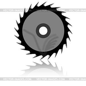 Kreissägeblatt - schwarzweiße Vektorgrafik
