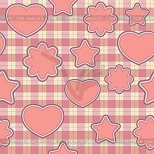 Rosa Applikation - nahtloser Hintergrund - Clipart-Design