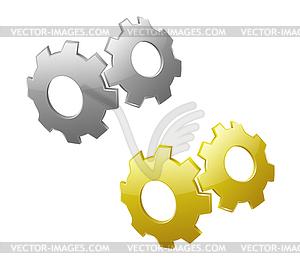 3D Zahnräder - Stock Vektorgrafik
