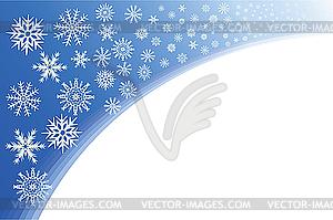 Blaue Ecke von Schneeflocken - Royalty-Free Clipart
