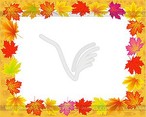 Abstrakter Rahmen mit herbstlichen Ahorn-Blättern - Stock Vektor-Bild
