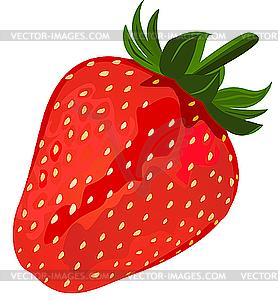 Reife rote Erdbeere - Vector Clip Art